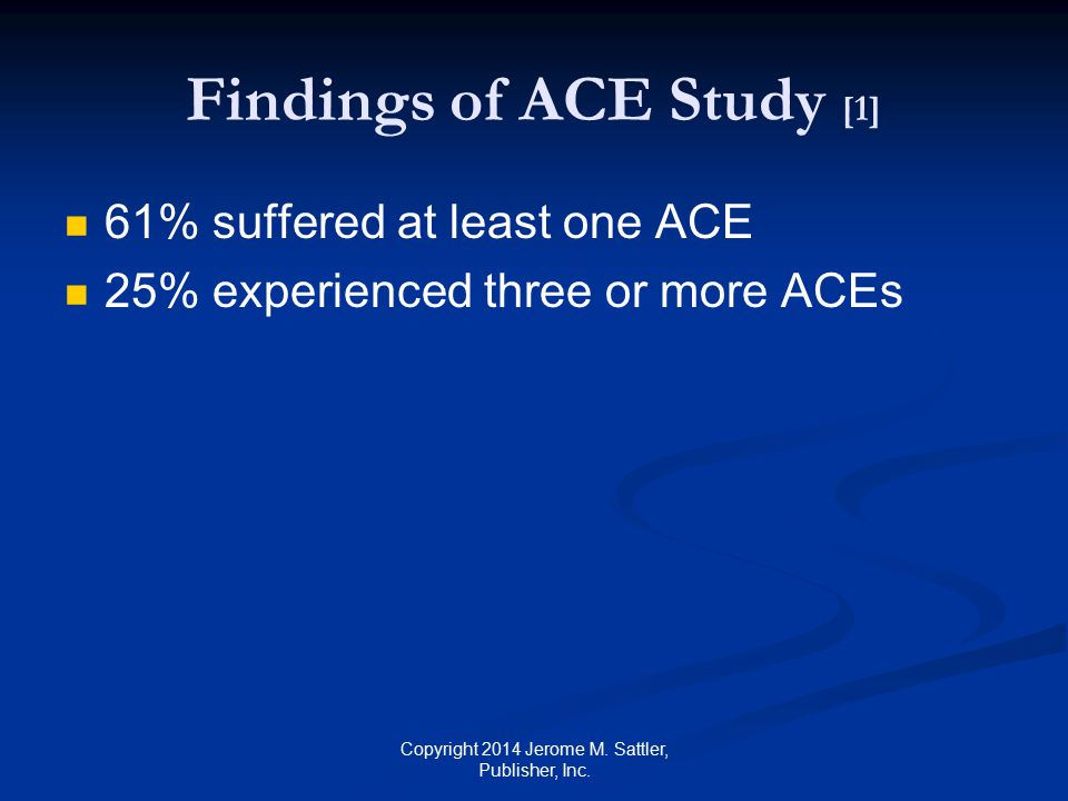Findings of ACE Study [1]